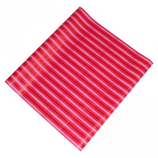 Feest inpakpapier roze strepen