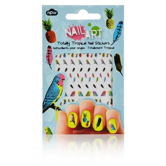 Feest nagel sticker pakket tropisch