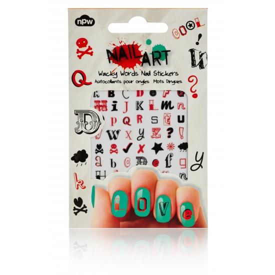 Feest nagel sticker pakket woorden
