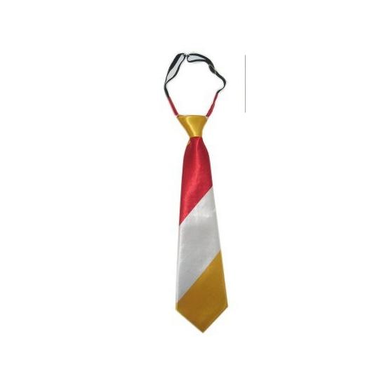 Feest stropdasje geel/rood/wit