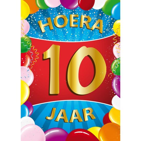 Feestartikelen 10 jaar poster
