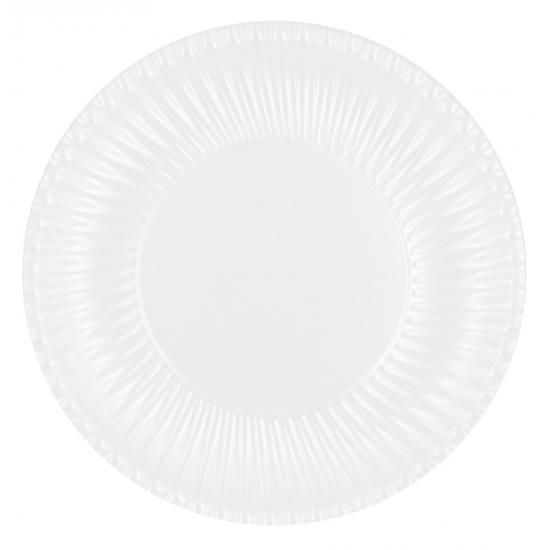 Feestartikelen bordjes wit 23 cm 10 stuks