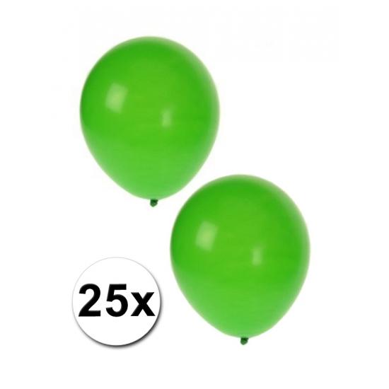 Feestballonnen groen 25 stuks