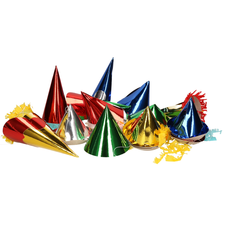 Feesthoedjes in diverse kleuren