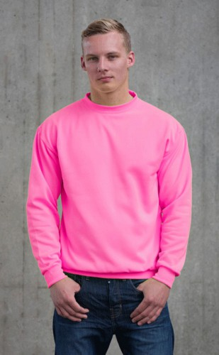Fel roze Just Hoods trui