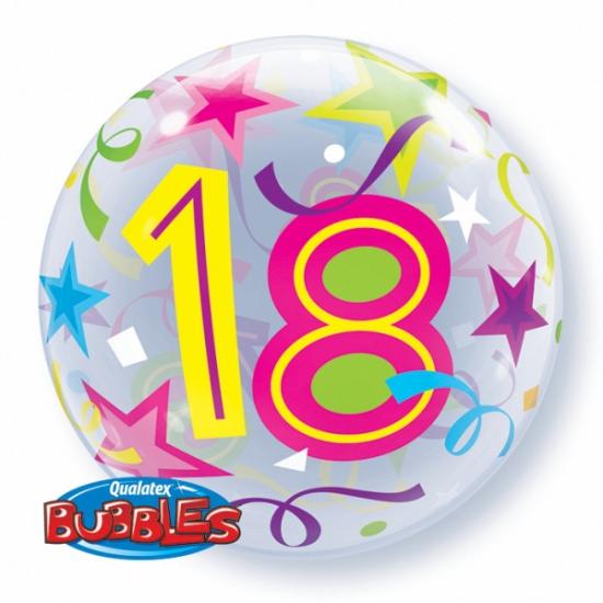 Folie ballon met helium 18 jaar