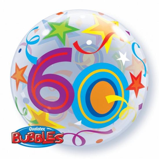 Folie ballon met helium 60 jaar