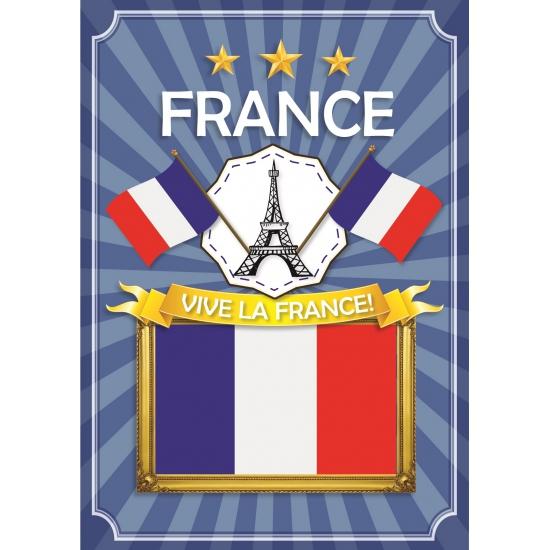 France deurposter blauw wit rood