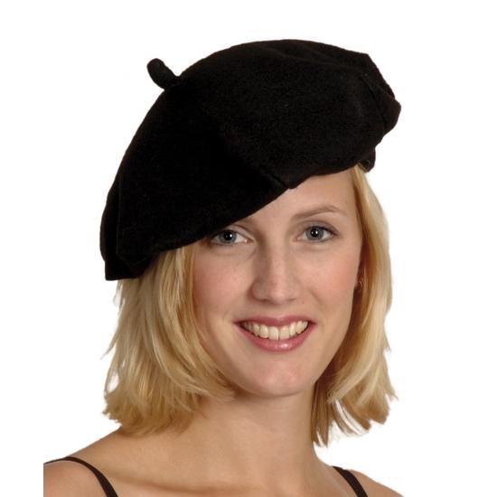 Franse baretten zwart