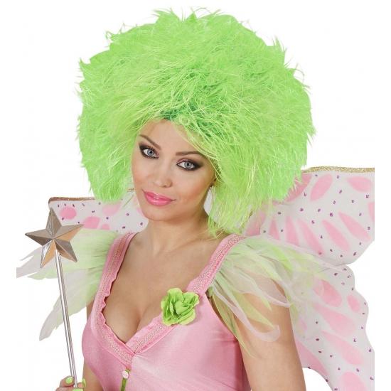 Funky dames pruik neon groen