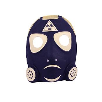 Gasmasker van plastic