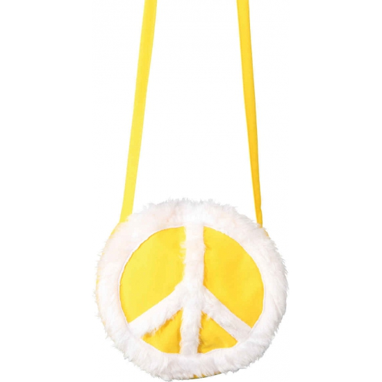 Geel hippie tasje met pluche