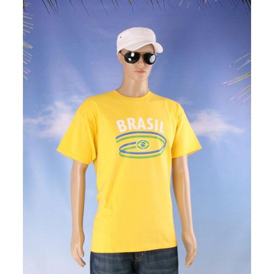 Geel t shirt met Brazilie print