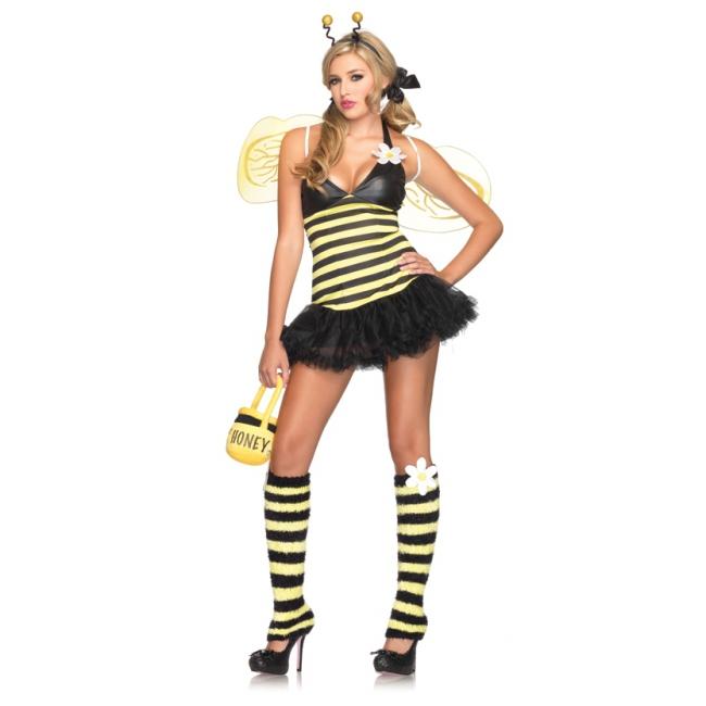 Geel zwart bijen kostuum voor dames
