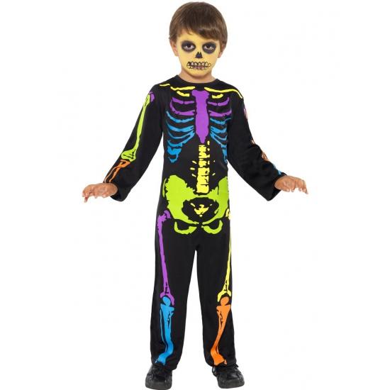 Gekleurd skeletten kostuum kinderen