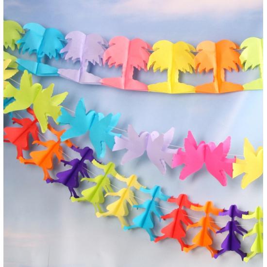 Gekleurde feestslingers van papier 3 stuks