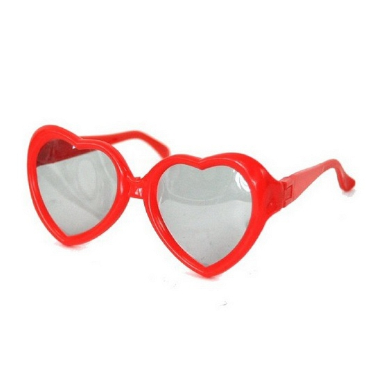 Gekleurde hartjes zonnebril voor kids