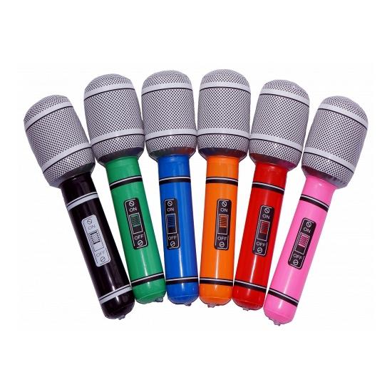 Gekleurde microfoons opblaasbaar