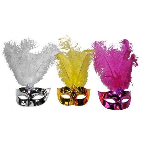 Gekleurde oogmasker metallic plastic