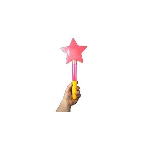 Gekleurde ster op staaf 36 cm