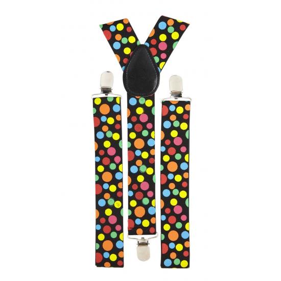 Gekleurde stippen bretels