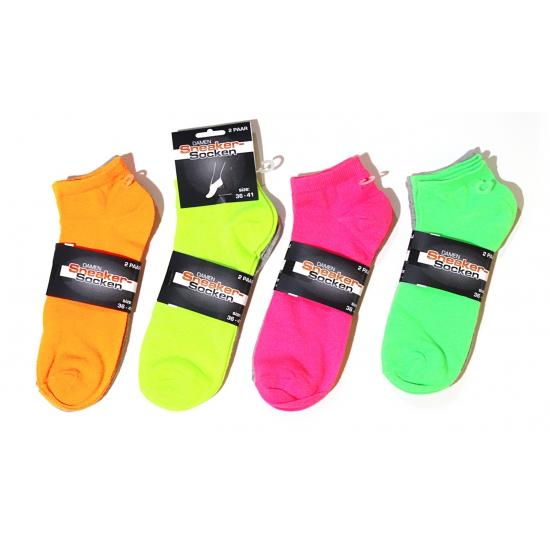 Gele carnaval sokken voor dames