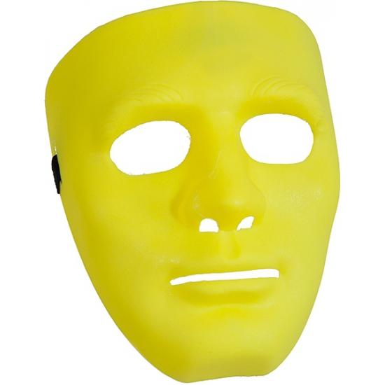 Gele gezichtsmaskers