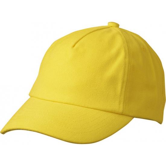 Gele kinder baseballcaps