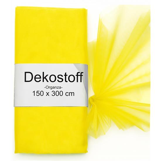 Gele organza stof 150 x 300 cm