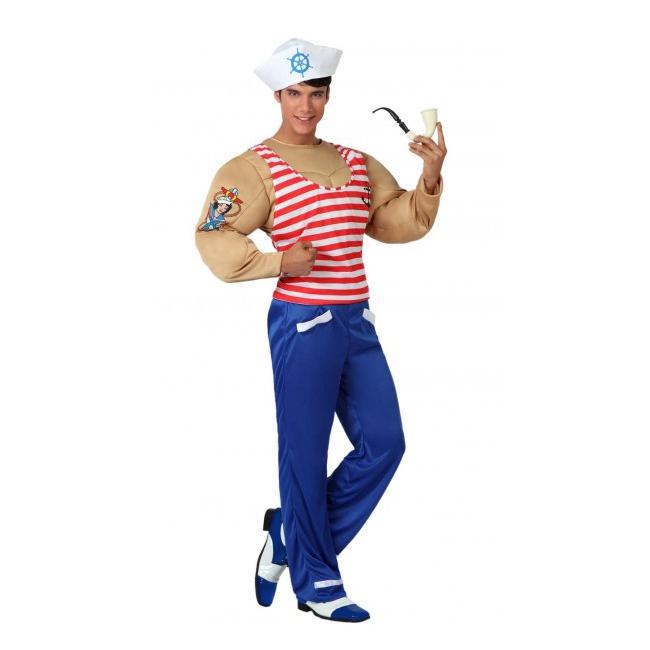 Gespierde sailor kostuum voor heren