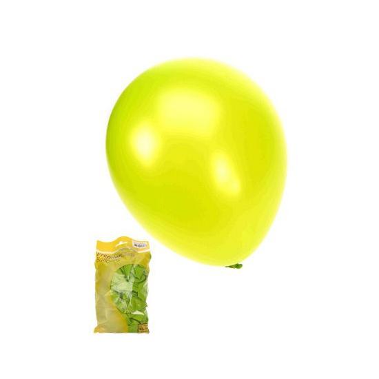 Glimmende ballonnen appelgroen 50 stuks