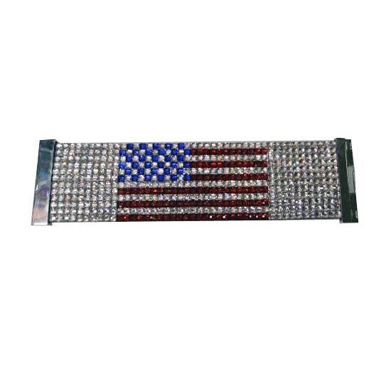 Glitter armband Amerikaanse vlag