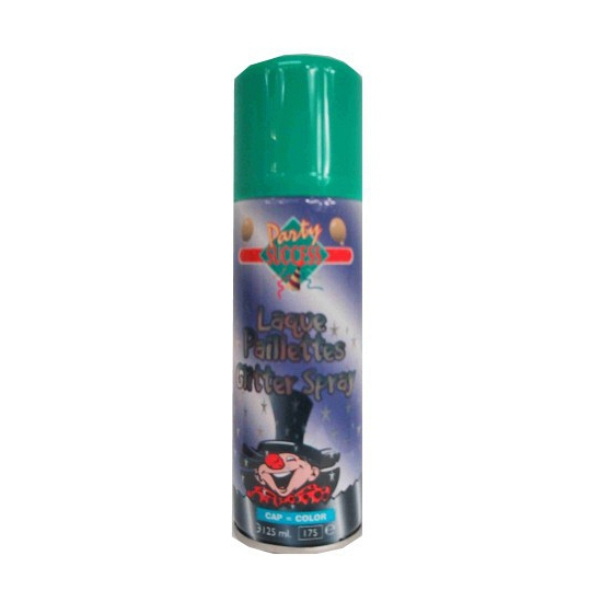 Glitter hairspray groen