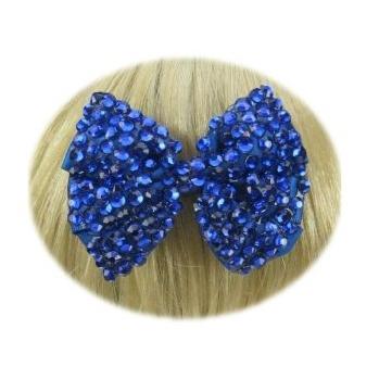 Glitter strikjes blauw