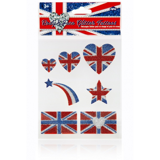 Glitter tatoeages Engeland