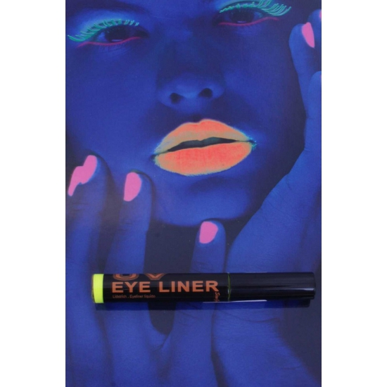 Glow in the dark eyeliner geel