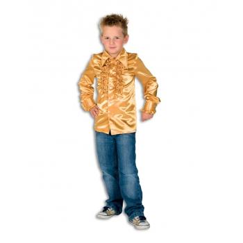 Gouden disco blouse voor jongens