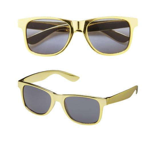 Gouden feestbril met donkere glazen