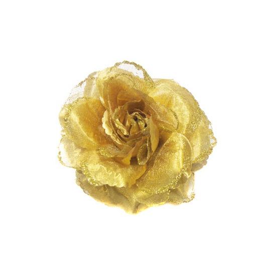Gouden glitter bloem voor in het haar