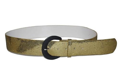 Gouden glitter disco riem 110 cm