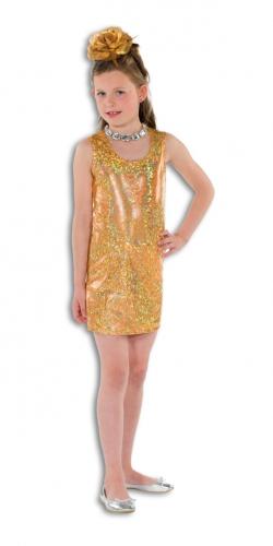 Gouden glitterende jurk  voor meisjes