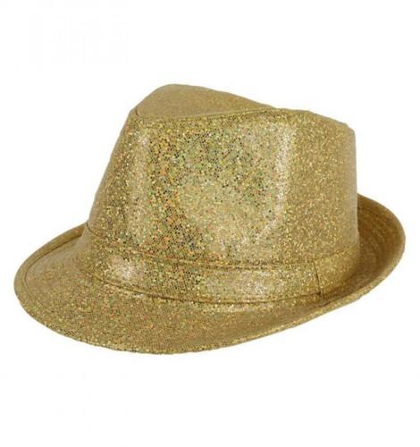 Goudkleurige glitter hoed