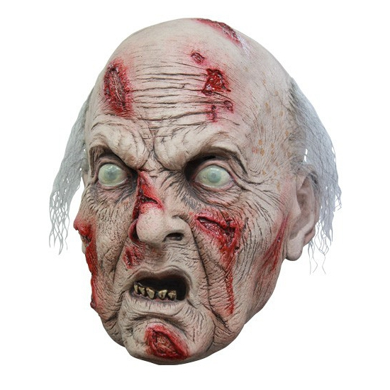 Griezelige oude man masker