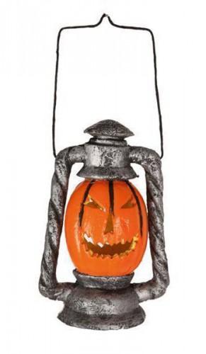 Griezelige pompoen lantaarn