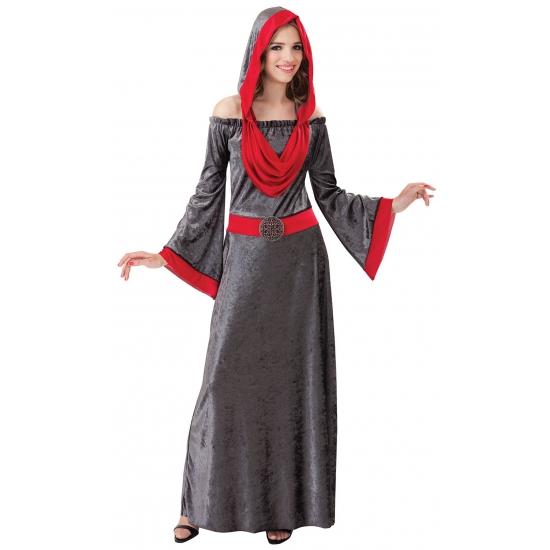 Grijze fluwelen Gothic jurk