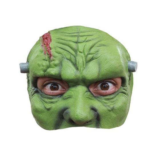 Groen frankenstein masker half gezicht