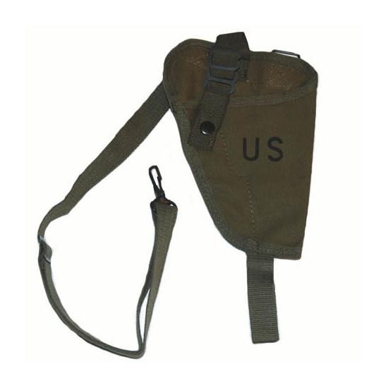 Groen schouderholster voor pistool
