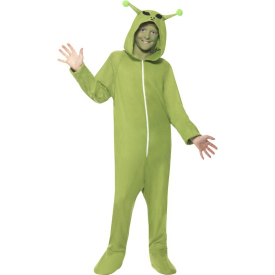 Groene alien verkleedkleding voor kids