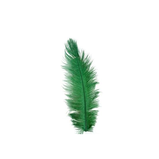 Groene baret veer 35 cm