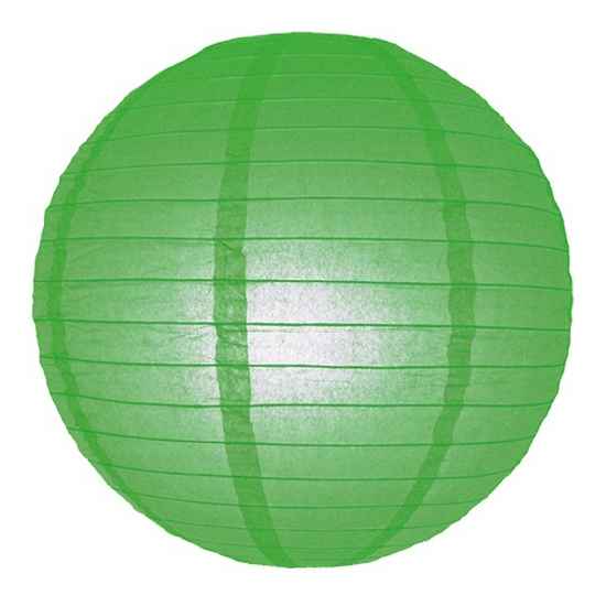 Groene bol lampion 25 cm